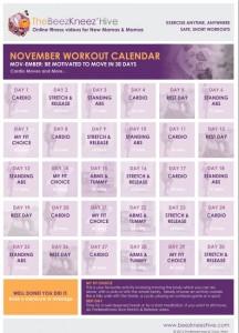 November Monthly Calendar Image